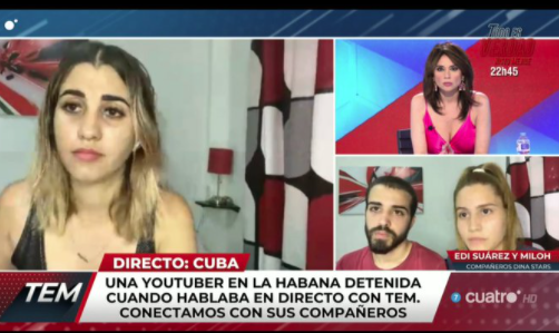 """Detienen a youtuber cubana Dina Stars cuando la entrevistaba la televisión española: """"Están matando al pueblo"""", dijo"""